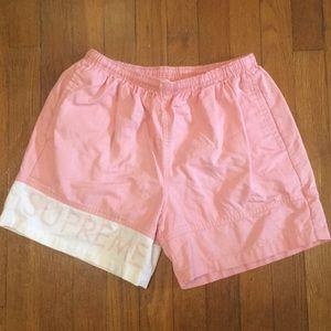Supreme Banner Pink Water Shorts